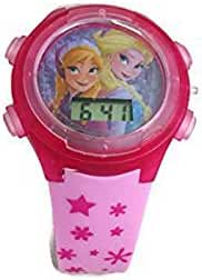 Disneys Frozen Queen Elsa and Anna Flashing Watch Pink