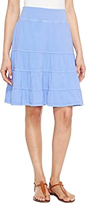 Fresh Produce Womens Jersey Tiered Skirt