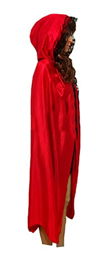 Women Ladies Halloween Costumes Wizard Cloak God of Death Cape Witches Robes Cos (X-Large)