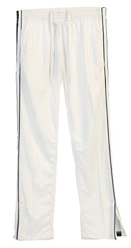 Gioberti Men's Athletic Track Pants, White, Small