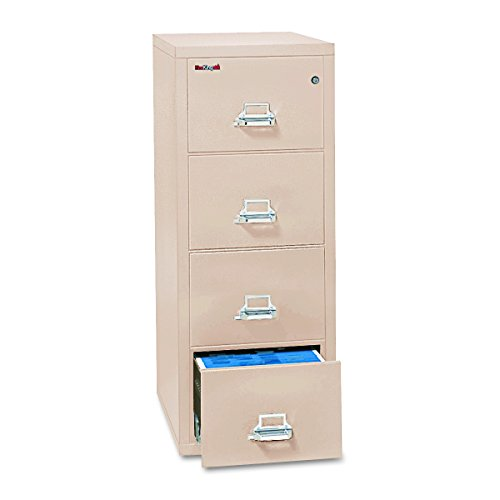 Fireproof Vertical File Cabinet, 4 Legal Sized Drawers, 52 .75in H x 20.81in W x 31.56in D, Made in The USA