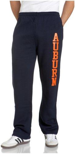 NCAA Auburn Tigers Fleece Pants, Large, Navy