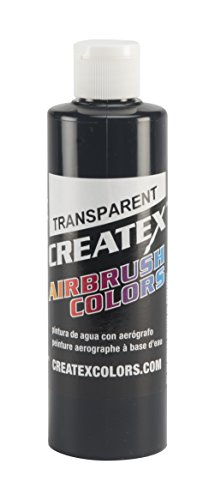 Createx Colors Paint for Airbrush, 8 oz, Transparent - Transparent Black Transparent