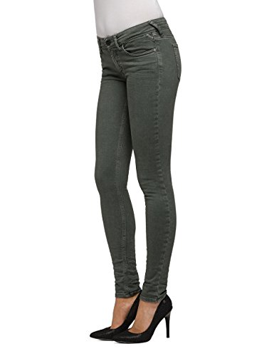 Verde sage Donna Luz Zip Jeans Replay Skinny 20 Green Coin AF0BxdY