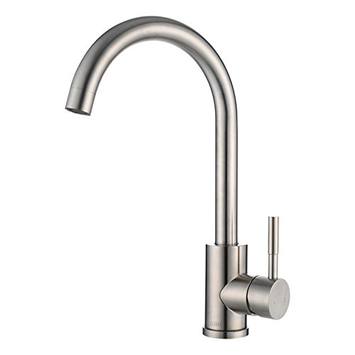 Dhpz Kitchen Faucet 304 Stainless Steel Hot And Cold Water Wash Basin Rotating Hot And Cold Laundry Tank, A
