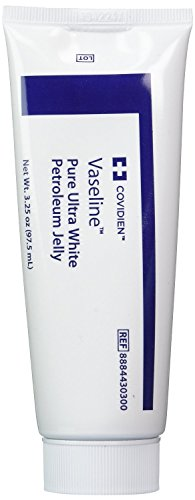 Covidien 8884430300 Vaseline Pure Ultra White Petroleum Jelly, Kendall,3.25 oz, 3-pack,