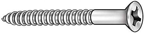 100 pk. #6 x 2 Phillips Flat Head Steel Wood Screws