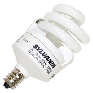 (Sylvania 29133 - CF5EL/MICRO/827/C Twist Candelabra Screw Base Compact Fluorescent Light Bulb)