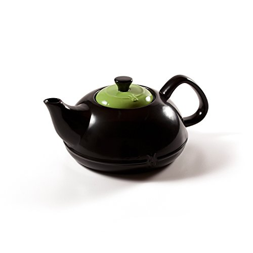 Xtrema 2.5 Qt 100% Ceramic Asiana Teapot with Cover (Apple Green) (Ceramic Cookware Xtrema compare prices)