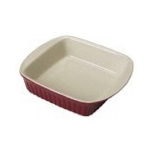 Good Cook 2 Quart Square Ceramic Dish, Red