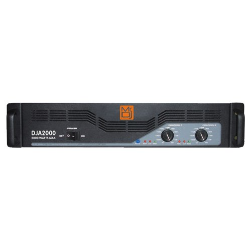 - Mr. Dj DJA2000 2000W Max, Professional Stereo Power Pro Audio Amplifier with Double Cooling Fans
