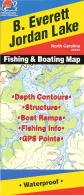 B. Everett Jordan Lake Fishing Map (North Carolina Lakes)