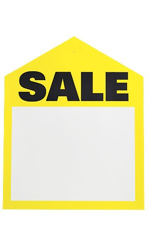 Count of 50 Large Yellow Oversized Sales Price Tags 6