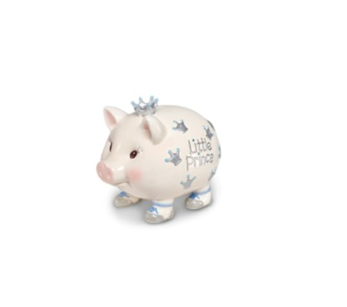 Mud Pie Baby Crown Prince Giant Piggy Bank by Mud Pie (Image #1)