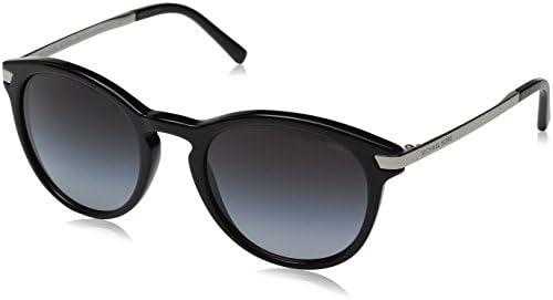 Michael Kors MK2023 316311 Black Adrianna III Round Sunglasses Lens Category 3, 53mm