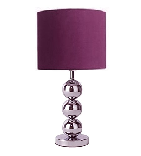 Purple Table Lamp Enchanting Purple Table Lamp Desk Light Lampshade Ball Chrome Base Faux Suede