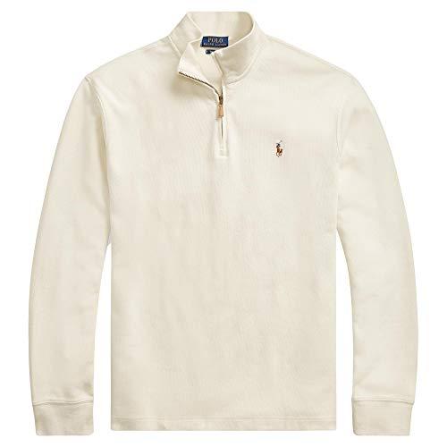 Polo Ralph Lauren Men's Big & Tall Fleece 1/2 Zip Mock Sweater-CreamSigPony-2XLT (Lauren Mens Ralph Fleece)