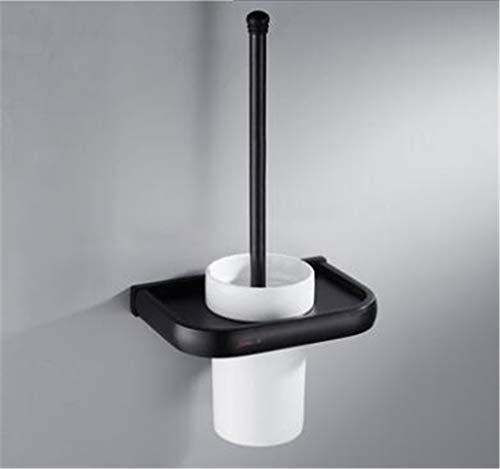 (Bathroom Accessories Set Black Oil Brushed Square Toilet Brush Holder Paper Holder Towel Bar Towel Holder Bathroom Hardware Set Toilet Brush Holder)