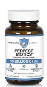 Probiotic America Perfect Biotics Digestive and Immune Support 30 billion CFUs 15 strains 30 capsule (1 Jar)