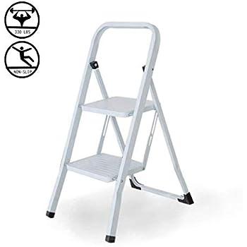 Livebest Folding 2 Steps Ladder Mini Step Stool 300lbs