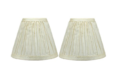 - Urbanest Chandelier Lamp Shades 6-inch, Random Mushroom Pleat, Hardback, Clip On, Cream, Set of 2