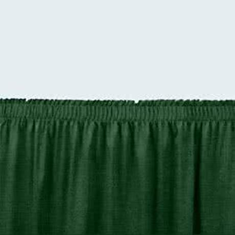 Tabletop King Seating SS16 96 Green Shirred Stage Skirt For 96 Stage 15 X 96