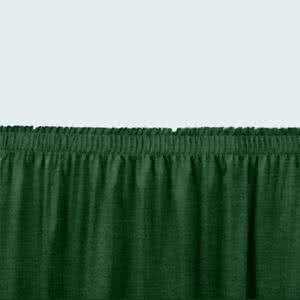 - Tabletop king Seating SS24-48 Green Shirred Stage Skirt for 24