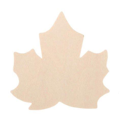 Bulk Buy: Darice DIY Crafts Wood Cutout Maple Leaf 3 inches (36-Pack) 9133-110