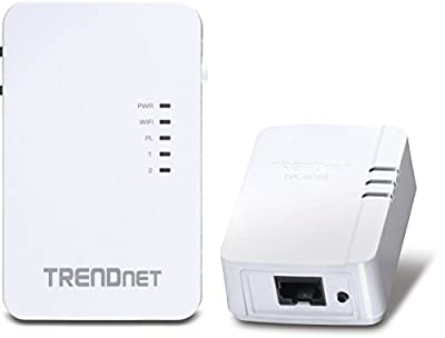 TRENDnet Wi-Fi Everywhere Powerline 1200 AV2 Dual-Band AC1200 Wireless Access Point Kit, Includes 1 x TPL-430AP and 1 x TPL-421E, White, TPL-430APK