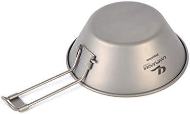 ACHICOO Titane extérieur Bol Pliable Vaisselle Titanium Bowl Metal Metal Portable Bol Titane Pur Pliable 300ml Camping Bowl