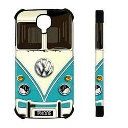 Kingsface Houseofcases Vw Minibus Teal Samsung Galaxy S4 I9500 case cover - Hybrid Plastic And dUY14HBIHN3 Durable Silicon Samsung Galaxy S4 I9500 case cover