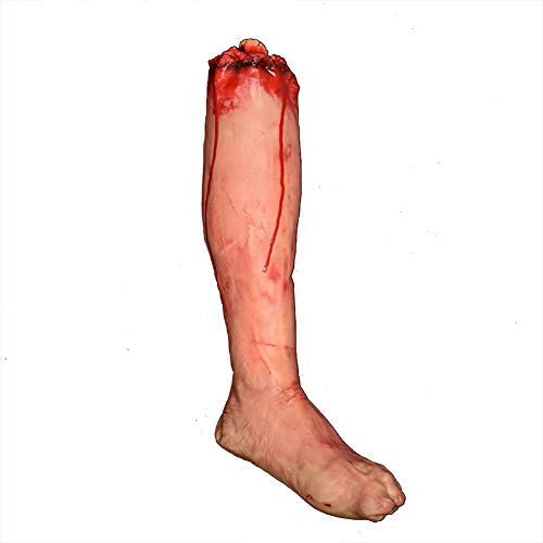 Horror Bloody Fake Severed Leg Tool Broken Leg Prank Trick Halloween Party Props -