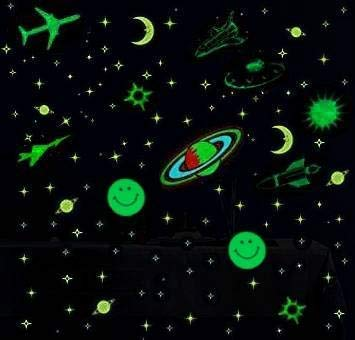 Edge Decore Radium Stars and Moon Sticker Glow in The Dark Night for Room Ceiling (PVC; Green; Fluorescent) (B07MD9K1YK) Amazon Price History, Amazon Price Tracker