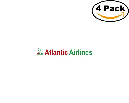 Atlantic Airlines 85608 4 Stickers 4X4 inches Car Bumper Window Sticker Decal