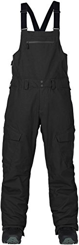 Snowboard Bibs - Burton Men's Reserve Bib Pant, True Black, Medium