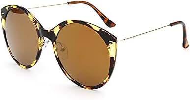 SojoS SJ2009 Round Cat Eyes Mirror Lenses Shiny Ultra-thin Women¡¯s Sunglasses