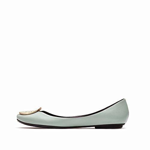 F Chaussures de Plates Peu Chaussures Bouche Et des Plates Été Profonde Ballet avec SED Printemps Chaussures qSZFx