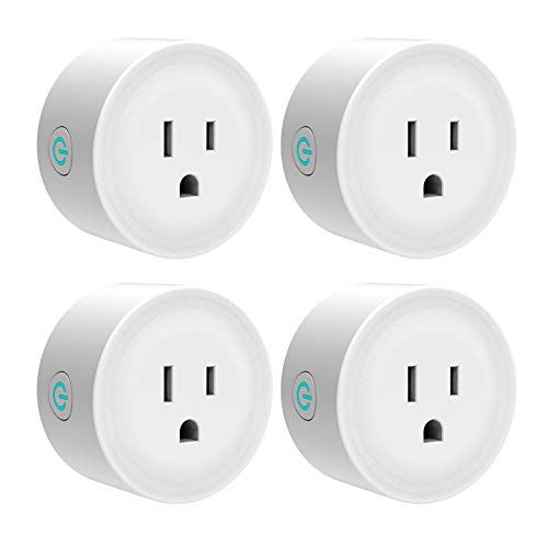 Smart Plug Wifi Outlet 4 Pack Work with Alexa/Google Home/IFTTT, Smart Life APP Remote Control Socket Timer/ON/OFF Light/Home Device, ETL FCC Listed(Avatar Controls)