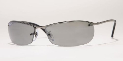 Ray-Ban RB 3186-004 71 Gunmetal Lunettes de soleil avec Vert Lenses ... e6083652e03c