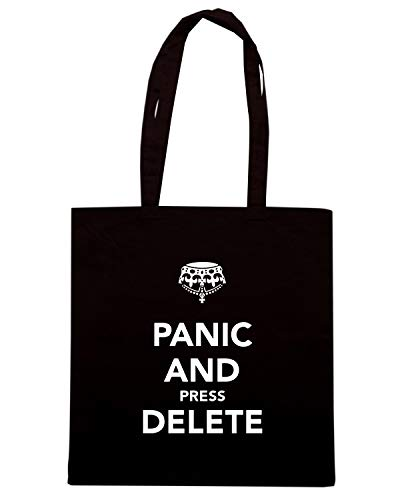 PRESS Shopper PANIC AND TKC0851 Borsa CALM KEEP Speed AND Nera DELETE Shirt qw4nREvF