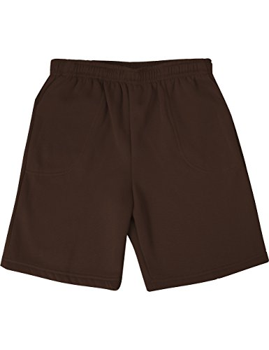 Ma Croix Mens Brushed Sweat Shorts (Small, 1IHA0004_Brown)