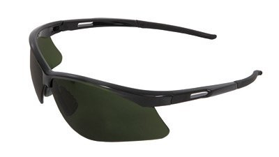 Radnor Premier Series IR Safety Glasses With Black Frame And Green And Shade 5 Polycarbonate ()