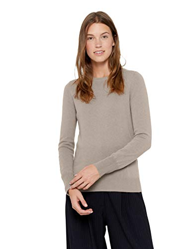 State Cashmere Essential Crewneck Sweater 100% Pure Cashmere Long Sleeve Pullover for Women (Winter Twig, Medium)