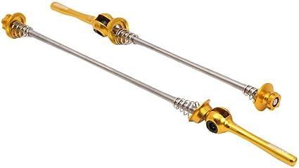 MSC Bikes MSC Steel Axle Quick Locks for Bicycle Wheels