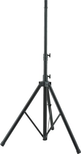 by Hamilton SR750700 Aluminum Speaker Stand with Adapter - Black (Hamilton Speaker Stand)