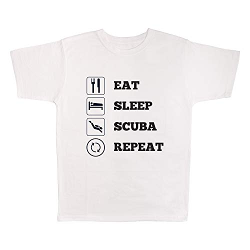 4 All Times Eat Sleep Scuba Dive Repeat T-Shirt]()