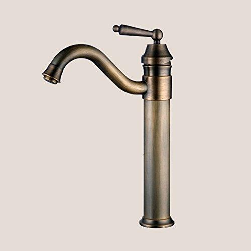 Lightinthebox Solid Antique Brass Single Handle Tall Spout Kitchen Sink Faucet Center Set Bathroom Sink Faucet Bath Tub Mixer Taps Tall Curve Spout Bronze Cooper Bar Spout Roman Tub Faucets high-quality