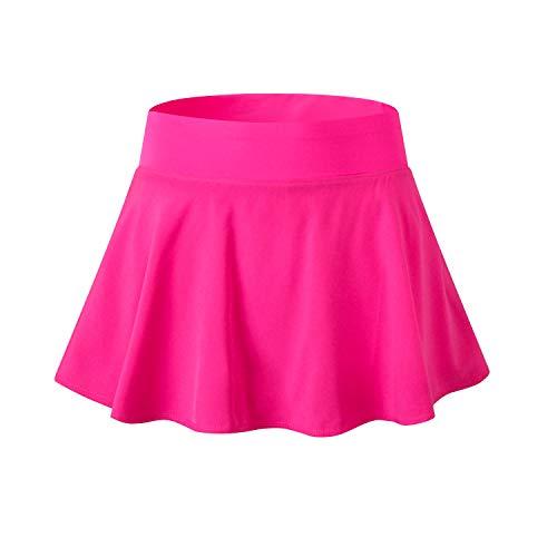 EZ-Joyce Girl's Pleated Mini Active Skort Super Light Tennis Skirt with Shorts - Pleated Skort Girls