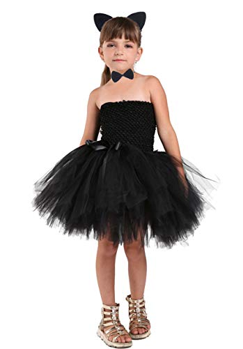 Tutu Dreams Cat Costume for Toddler Girls Birthday Party Outfits Gifts Halloween Carnival (Catgirl, 1-2T) -