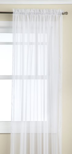 Stylemaster Elegance Sheer 1000 Twist 60-Inch by 84-Inch Voile Panel, White